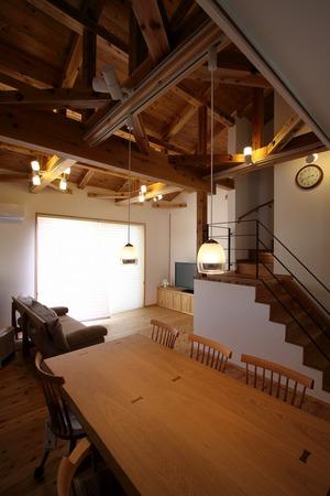 名古屋市 一社の家 天竜杉のインテリア